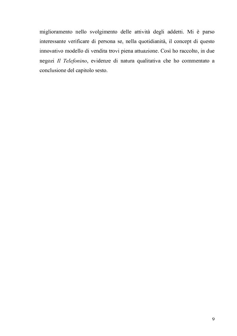 Anteprima della tesi: La multicanalità in un'azienda di telecomunicazioni come strumento di CRM, Pagina 5