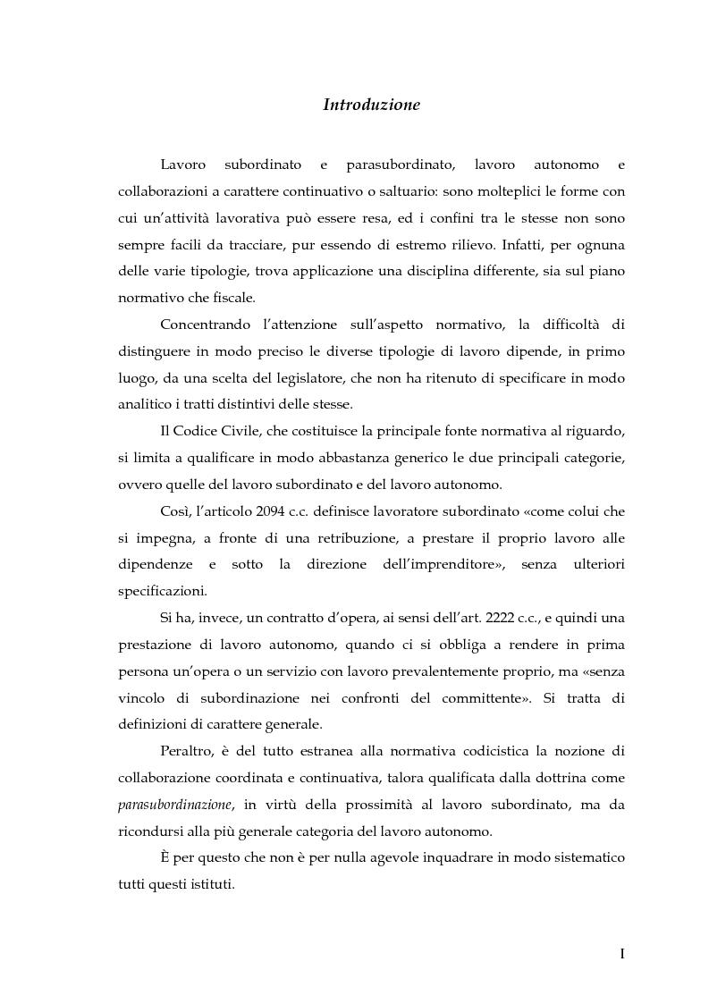 Anteprima della tesi: Autonomia e subordinazione nell'esperienza recente, Pagina 1