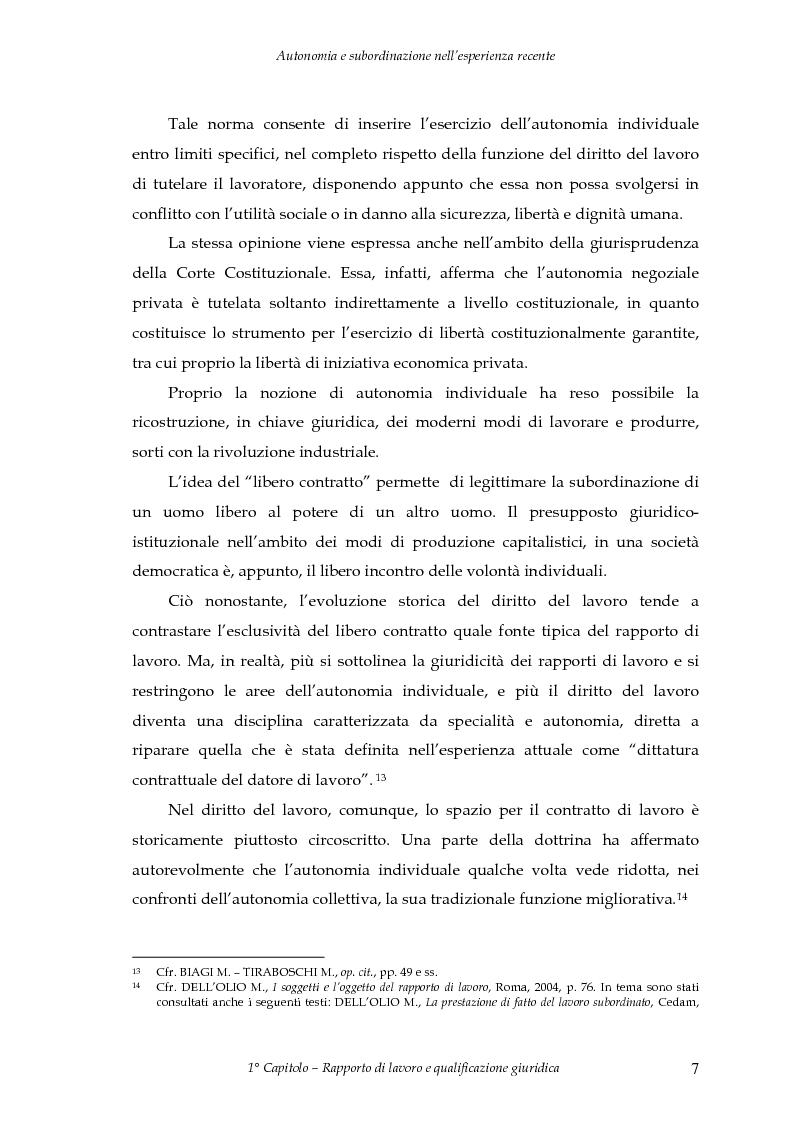 Anteprima della tesi: Autonomia e subordinazione nell'esperienza recente, Pagina 11