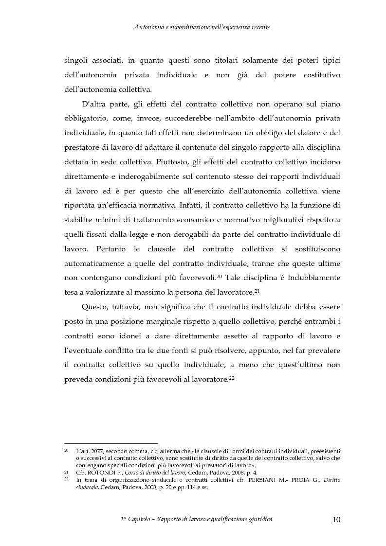 Anteprima della tesi: Autonomia e subordinazione nell'esperienza recente, Pagina 14