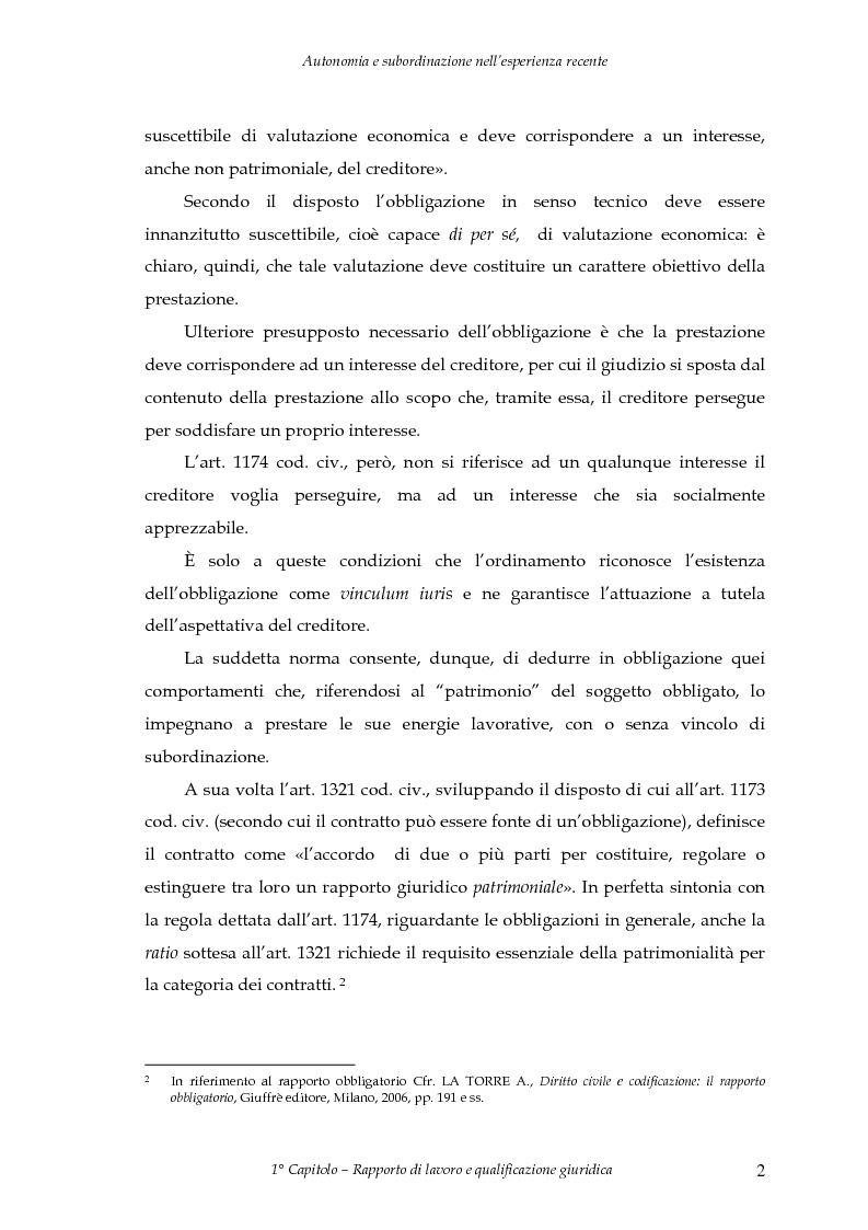 Anteprima della tesi: Autonomia e subordinazione nell'esperienza recente, Pagina 6