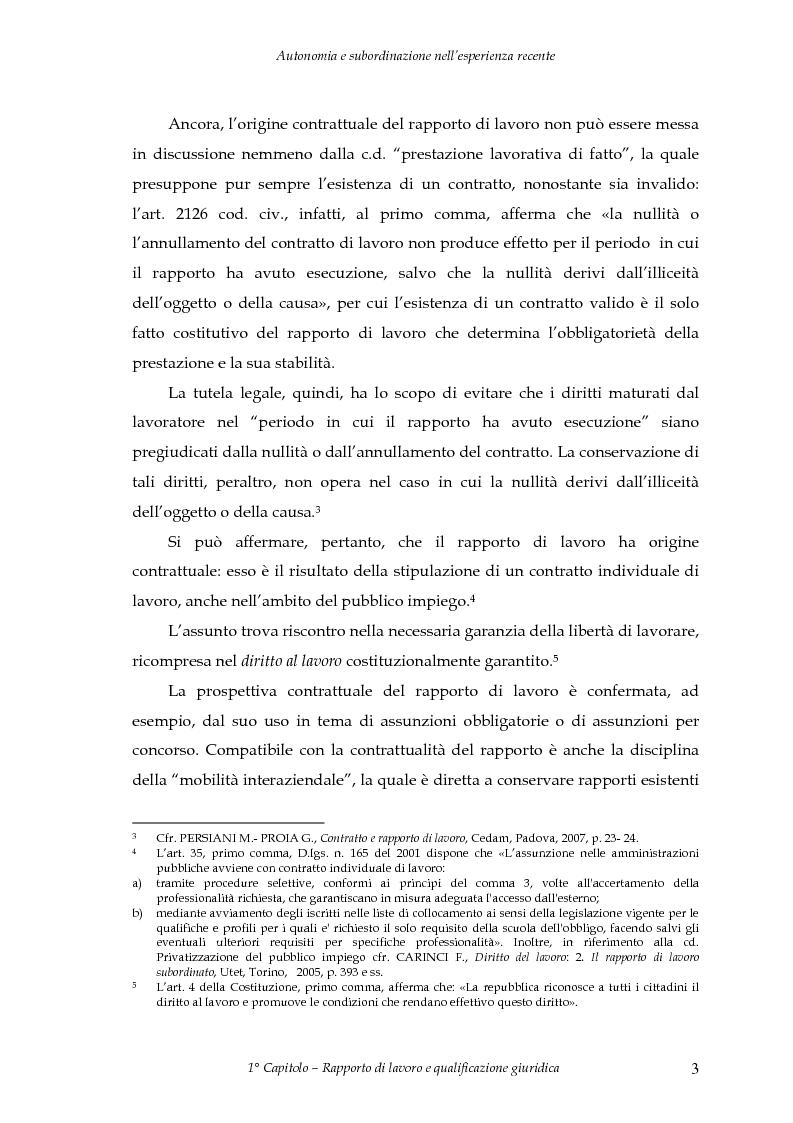 Anteprima della tesi: Autonomia e subordinazione nell'esperienza recente, Pagina 7