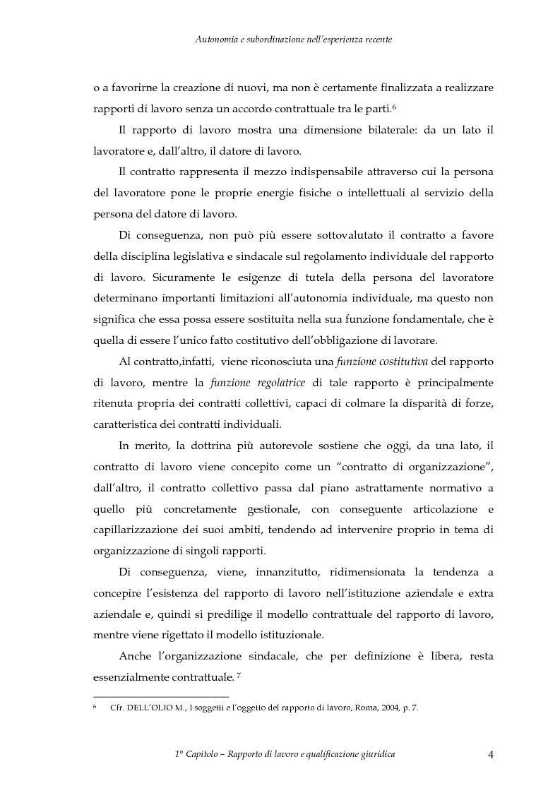 Anteprima della tesi: Autonomia e subordinazione nell'esperienza recente, Pagina 8