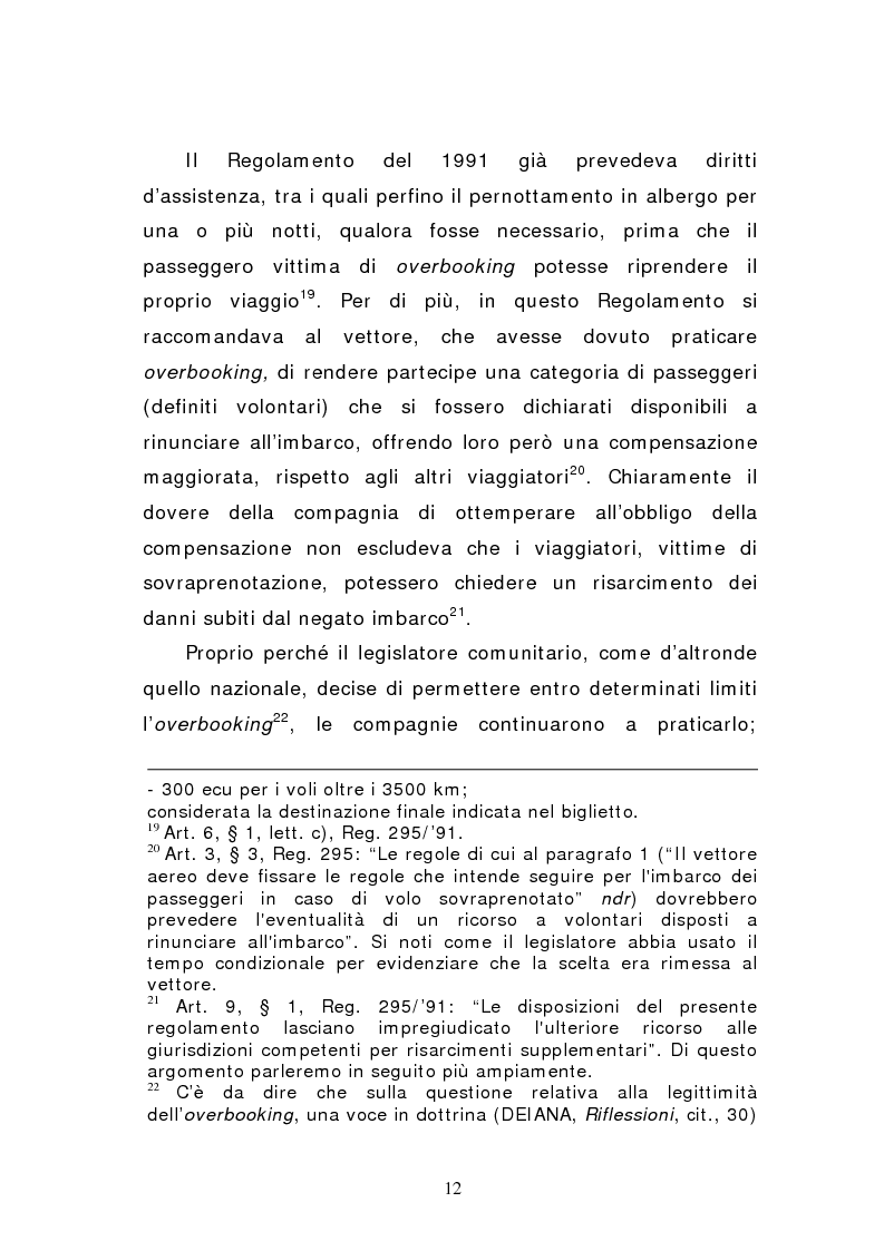 Anteprima della tesi: Negato imbarco, cancellazione del volo e ritardo nel trasporto aereo di persone, Pagina 10