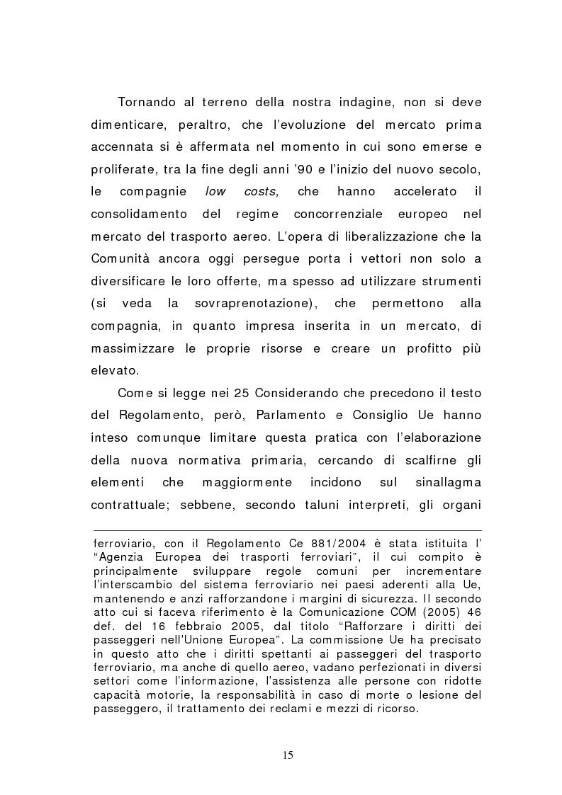 Anteprima della tesi: Negato imbarco, cancellazione del volo e ritardo nel trasporto aereo di persone, Pagina 13