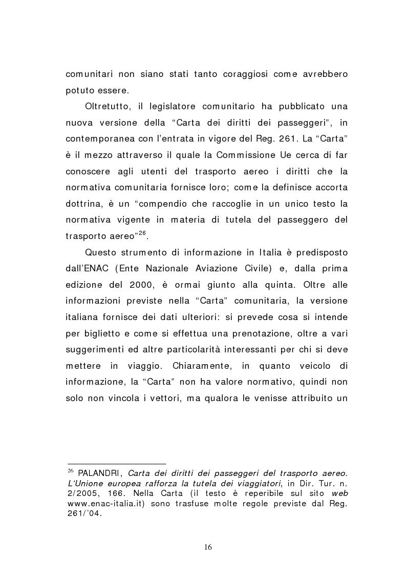 Anteprima della tesi: Negato imbarco, cancellazione del volo e ritardo nel trasporto aereo di persone, Pagina 14