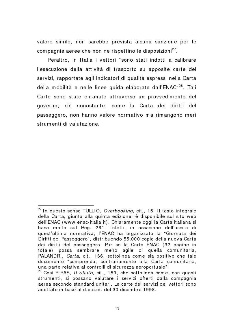 Anteprima della tesi: Negato imbarco, cancellazione del volo e ritardo nel trasporto aereo di persone, Pagina 15