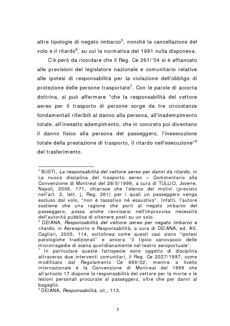 Anteprima della tesi: Negato imbarco, cancellazione del volo e ritardo nel trasporto aereo di persone, Pagina 3