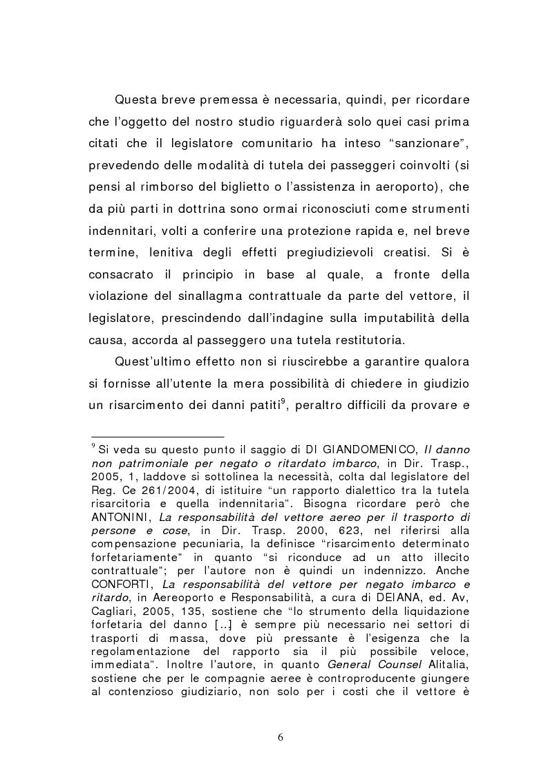 Anteprima della tesi: Negato imbarco, cancellazione del volo e ritardo nel trasporto aereo di persone, Pagina 4