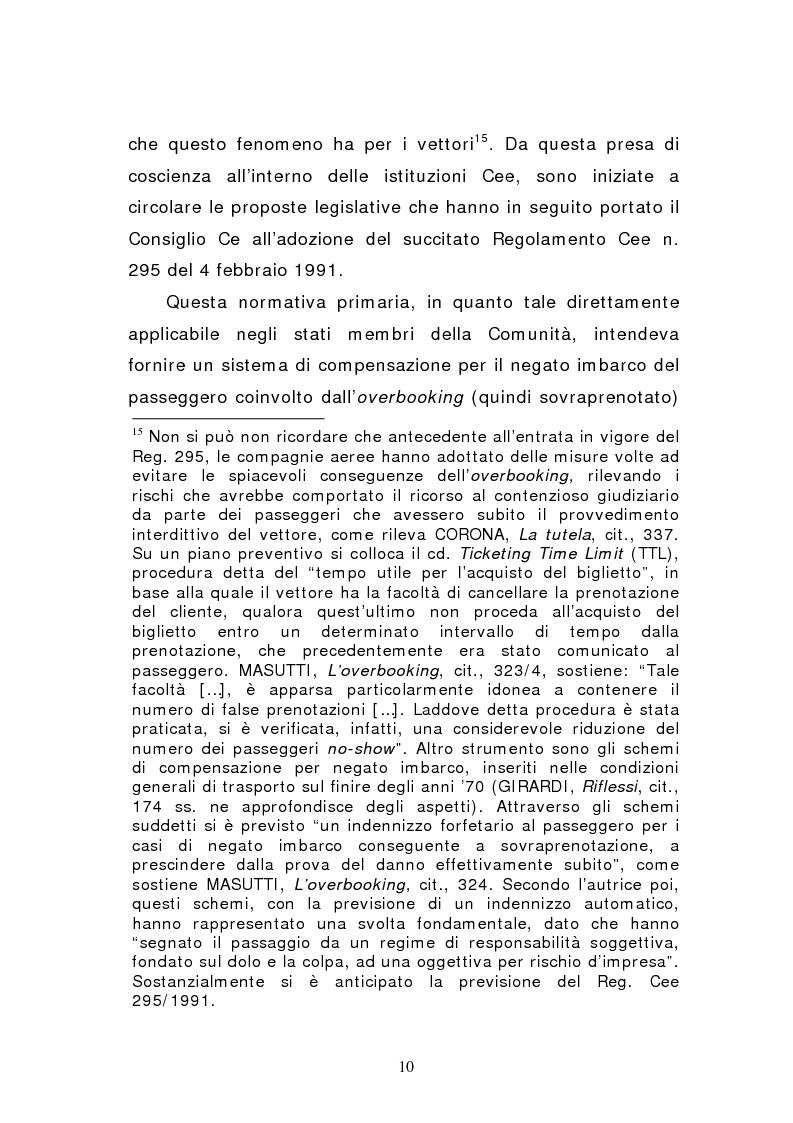 Anteprima della tesi: Negato imbarco, cancellazione del volo e ritardo nel trasporto aereo di persone, Pagina 8