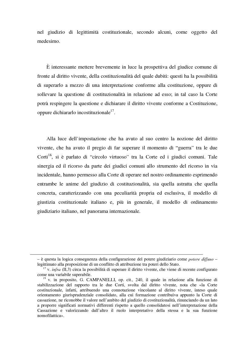Anteprima della tesi: Recenti momenti di conflitto tra Corte Costituzionale e Corte di Cassazione, Pagina 7