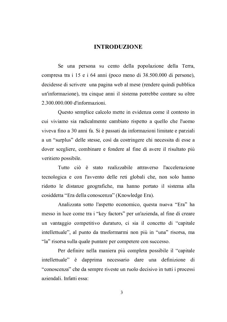 Anteprima della tesi: Capitale intellettuale e strumenti di valutazione, Pagina 1