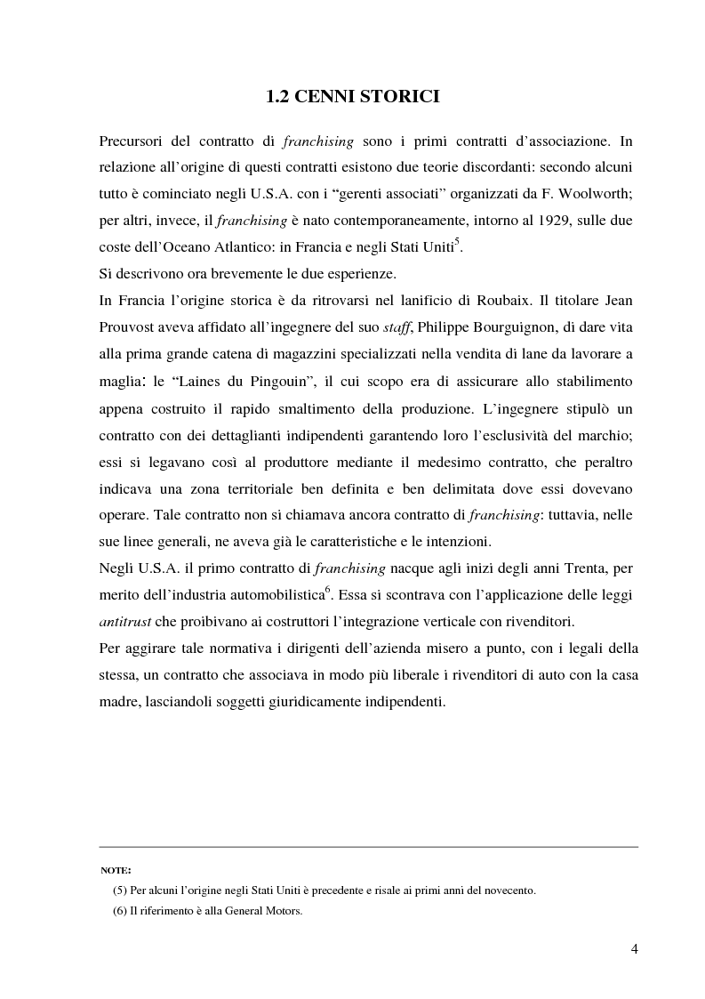 Anteprima della tesi: Norme per la disciplina dell'affiliazione commerciale (franchising): gli estremi della legge 129 del 6 maggio 2004, Pagina 4