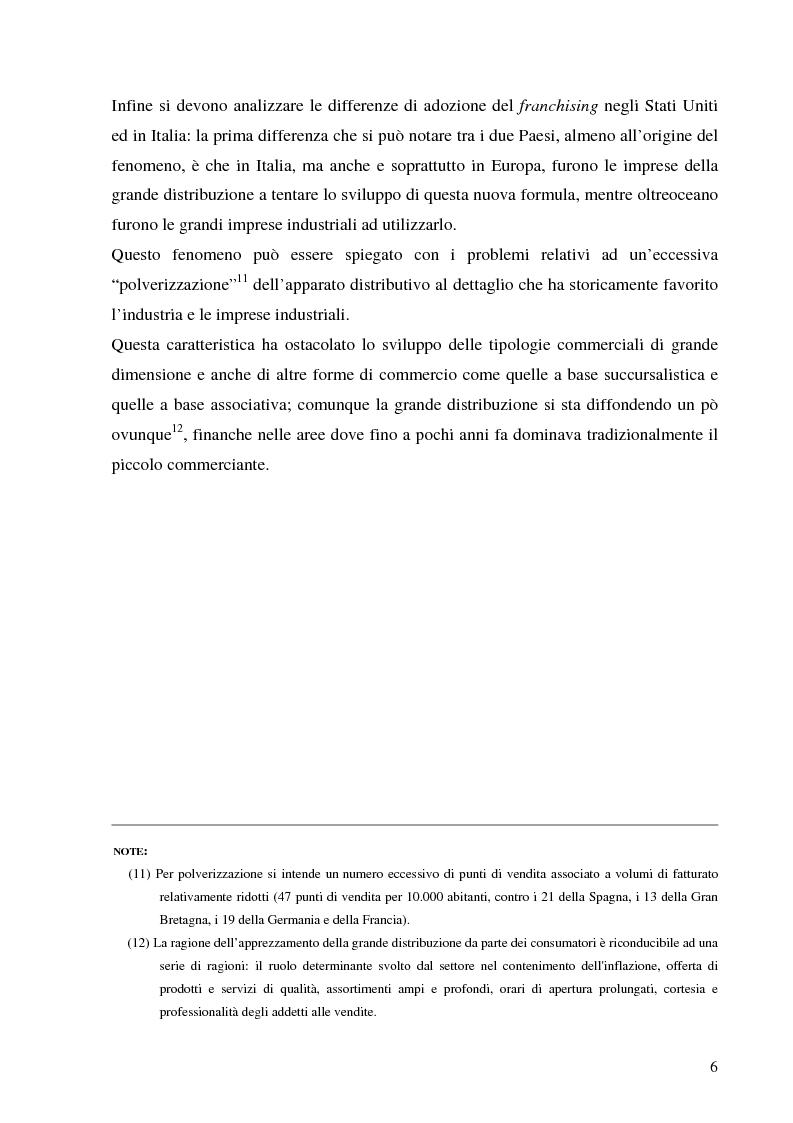 Anteprima della tesi: Norme per la disciplina dell'affiliazione commerciale (franchising): gli estremi della legge 129 del 6 maggio 2004, Pagina 6