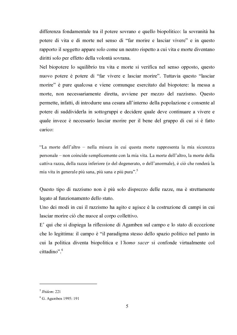 Anteprima della tesi: Emergenza, cittadinanza, esclusione. Un'analisi antropologica della gestione politica dei campi nomadi., Pagina 4