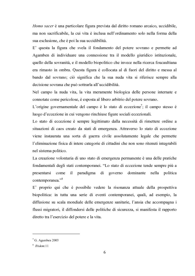 Anteprima della tesi: Emergenza, cittadinanza, esclusione. Un'analisi antropologica della gestione politica dei campi nomadi., Pagina 5