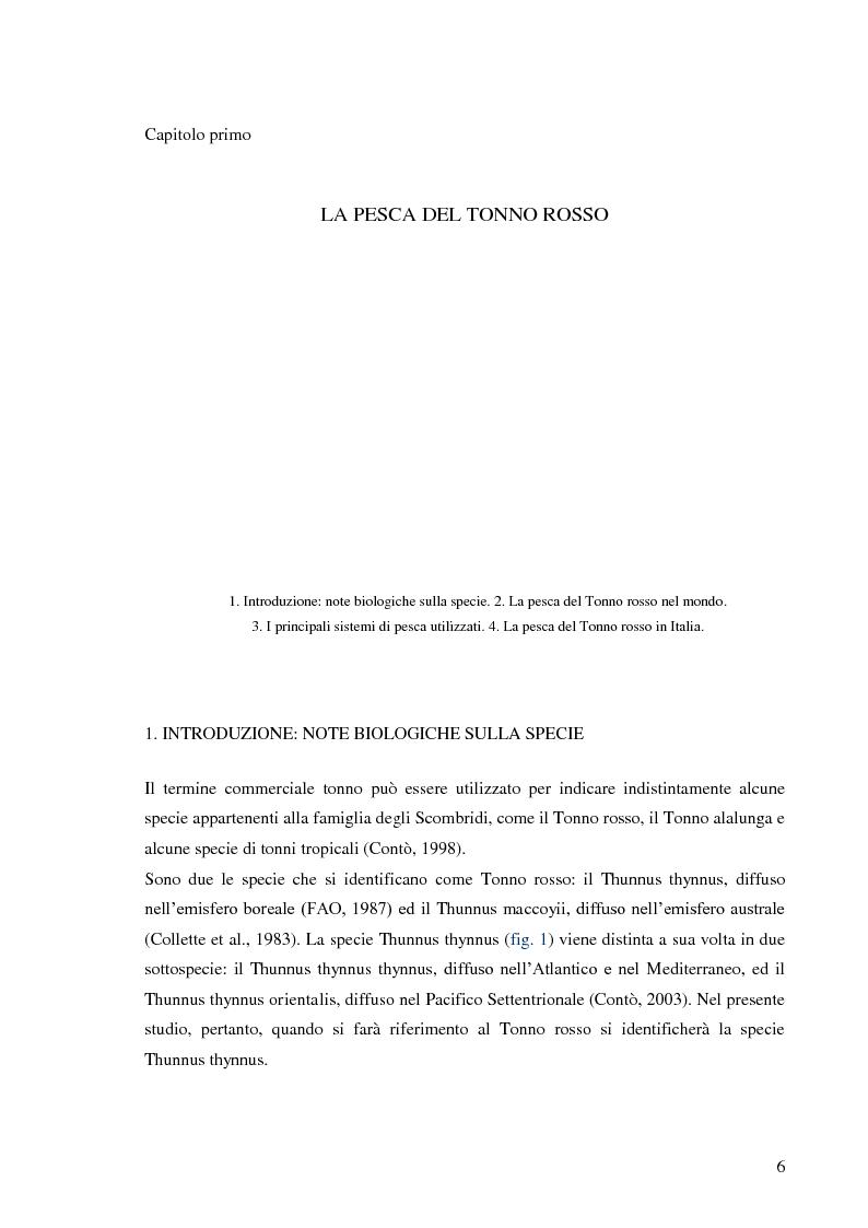 Anteprima della tesi: Pesca e allevamento del tonno rosso: analisi economica della maricoltura, Pagina 1