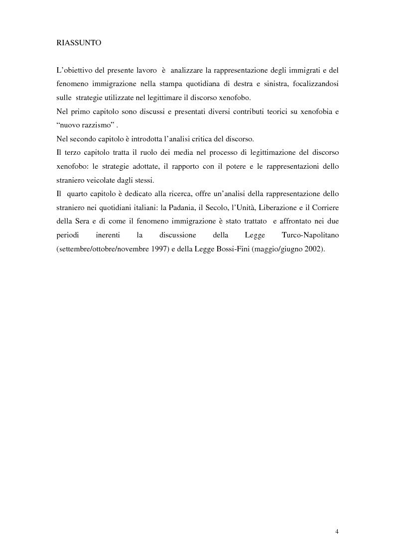 Anteprima della tesi: La rappresentazione dello straniero nella stampa quotidiana, Pagina 2