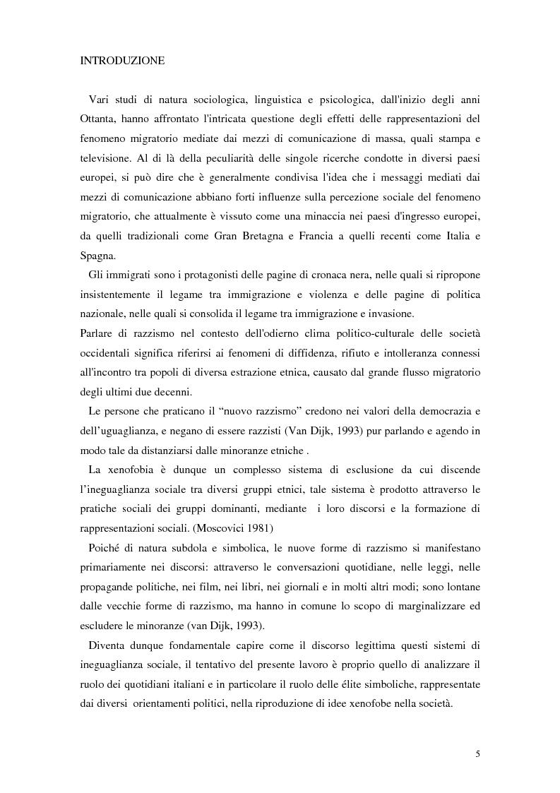 Anteprima della tesi: La rappresentazione dello straniero nella stampa quotidiana, Pagina 3