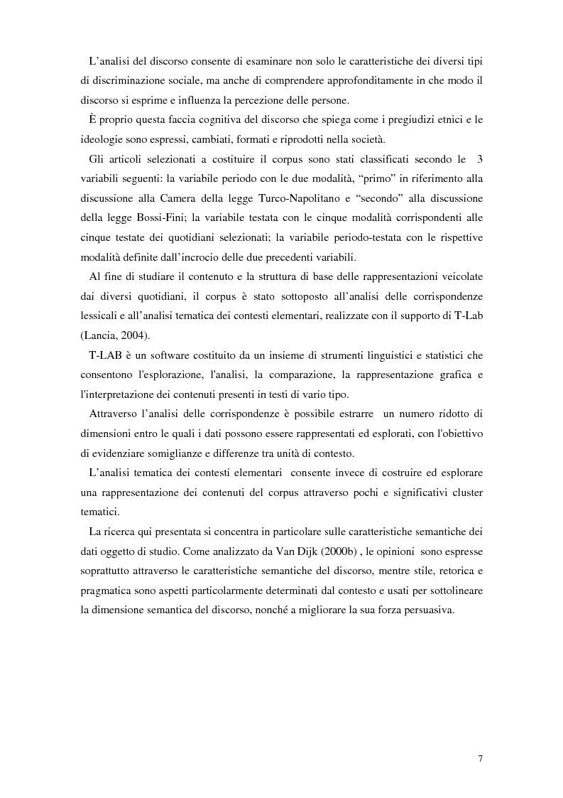 Anteprima della tesi: La rappresentazione dello straniero nella stampa quotidiana, Pagina 5
