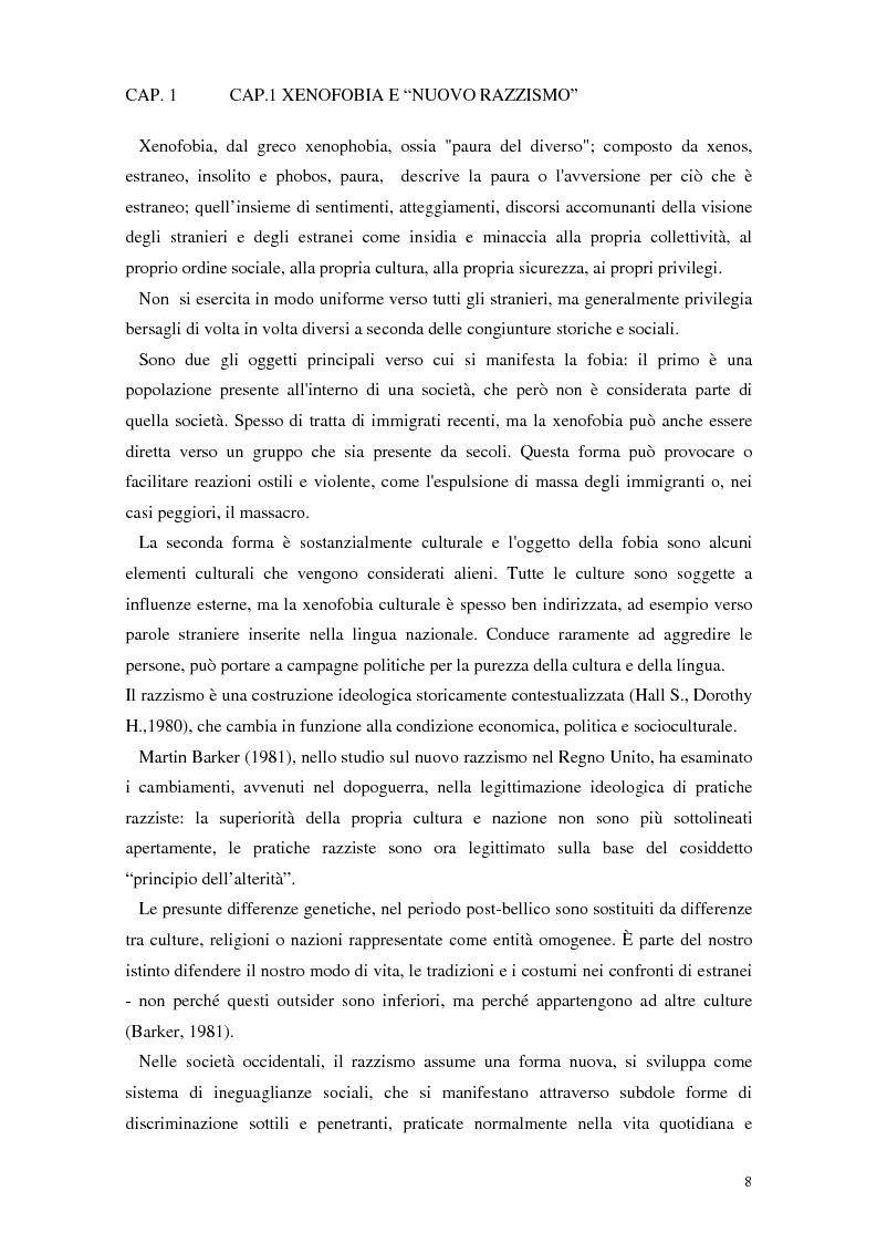 Anteprima della tesi: La rappresentazione dello straniero nella stampa quotidiana, Pagina 6