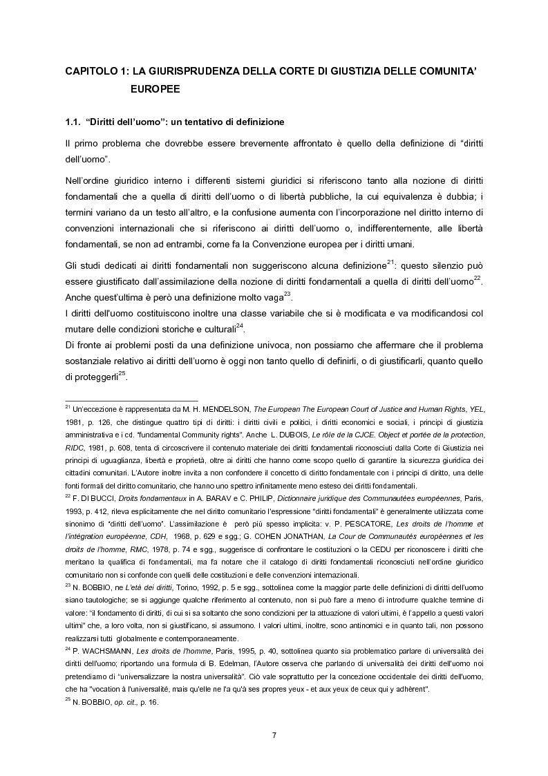Anteprima della tesi: L'adesione della Comunità europea alla Convenzione europea dei diritti dell'uomo, Pagina 5