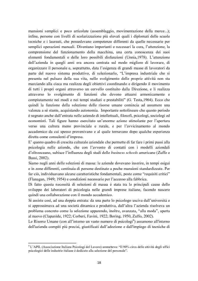 Anteprima della tesi: Criteri di scelta nel processo di selezione del personale: un'analisi empirica, Pagina 12