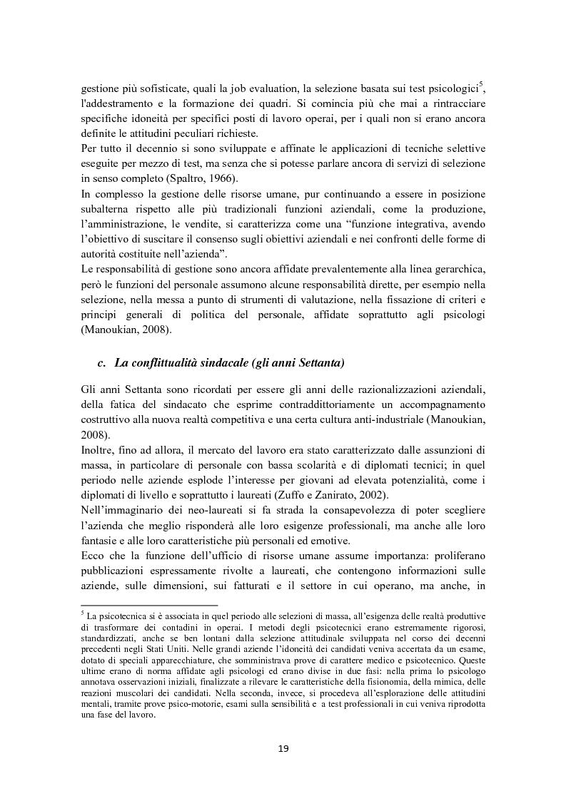 Anteprima della tesi: Criteri di scelta nel processo di selezione del personale: un'analisi empirica, Pagina 13