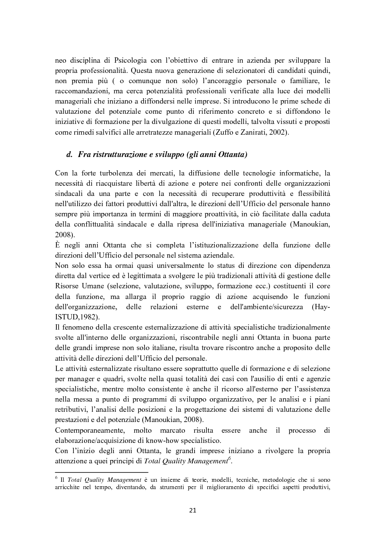 Anteprima della tesi: Criteri di scelta nel processo di selezione del personale: un'analisi empirica, Pagina 15