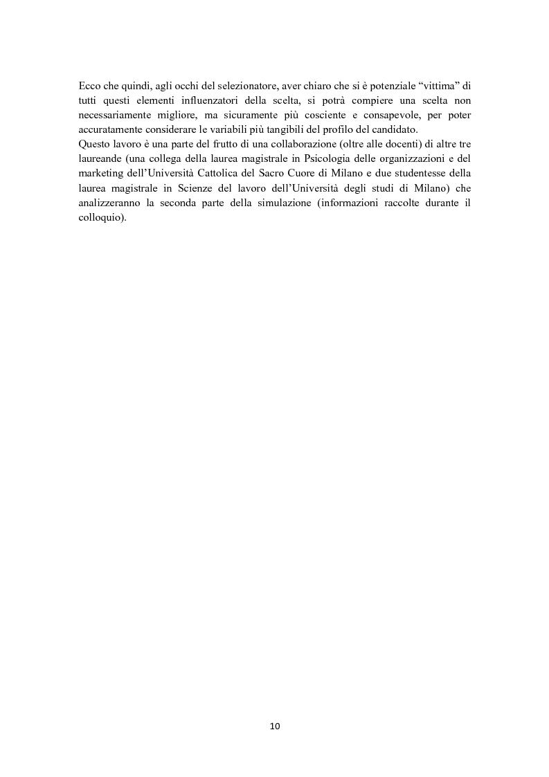 Anteprima della tesi: Criteri di scelta nel processo di selezione del personale: un'analisi empirica, Pagina 4