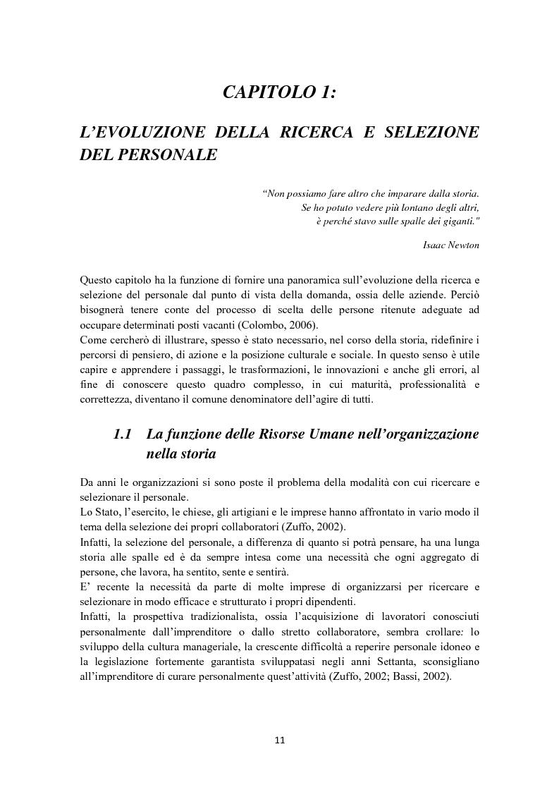 Anteprima della tesi: Criteri di scelta nel processo di selezione del personale: un'analisi empirica, Pagina 5