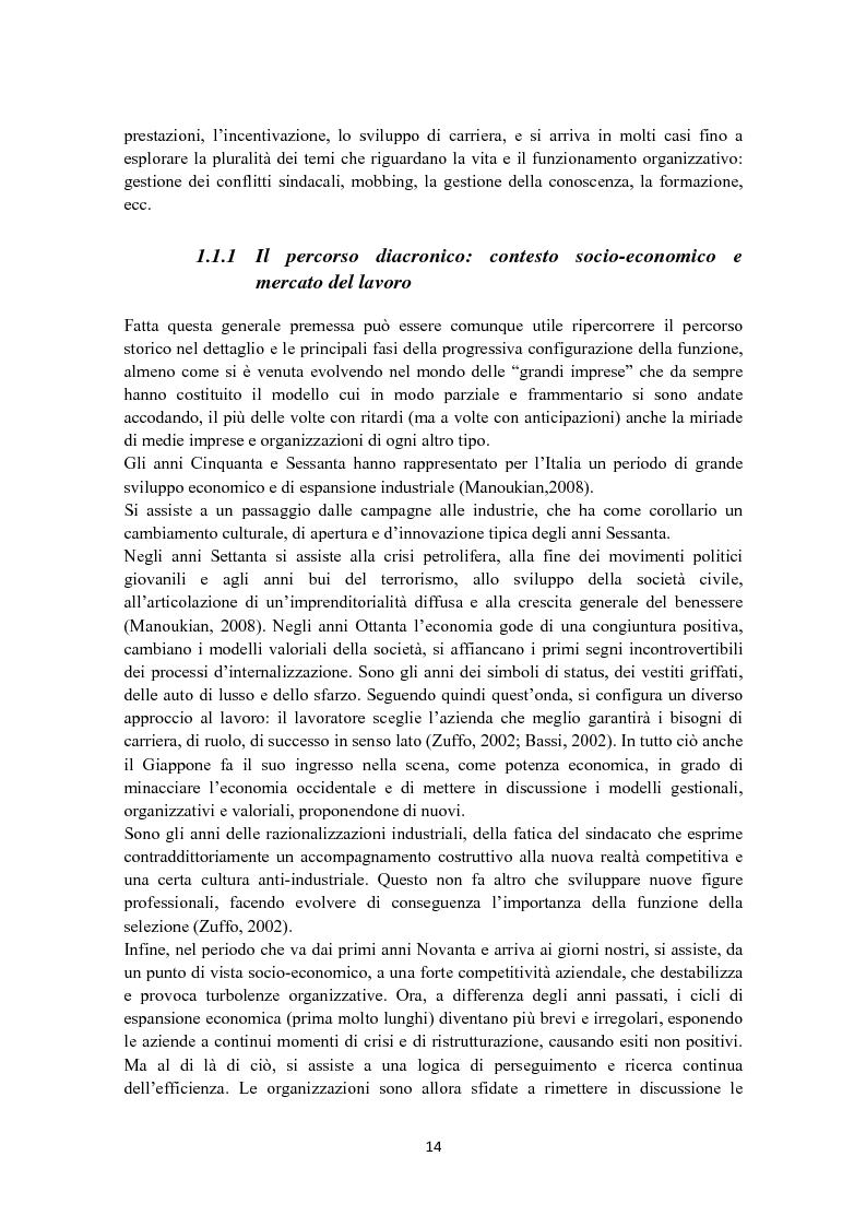 Anteprima della tesi: Criteri di scelta nel processo di selezione del personale: un'analisi empirica, Pagina 8