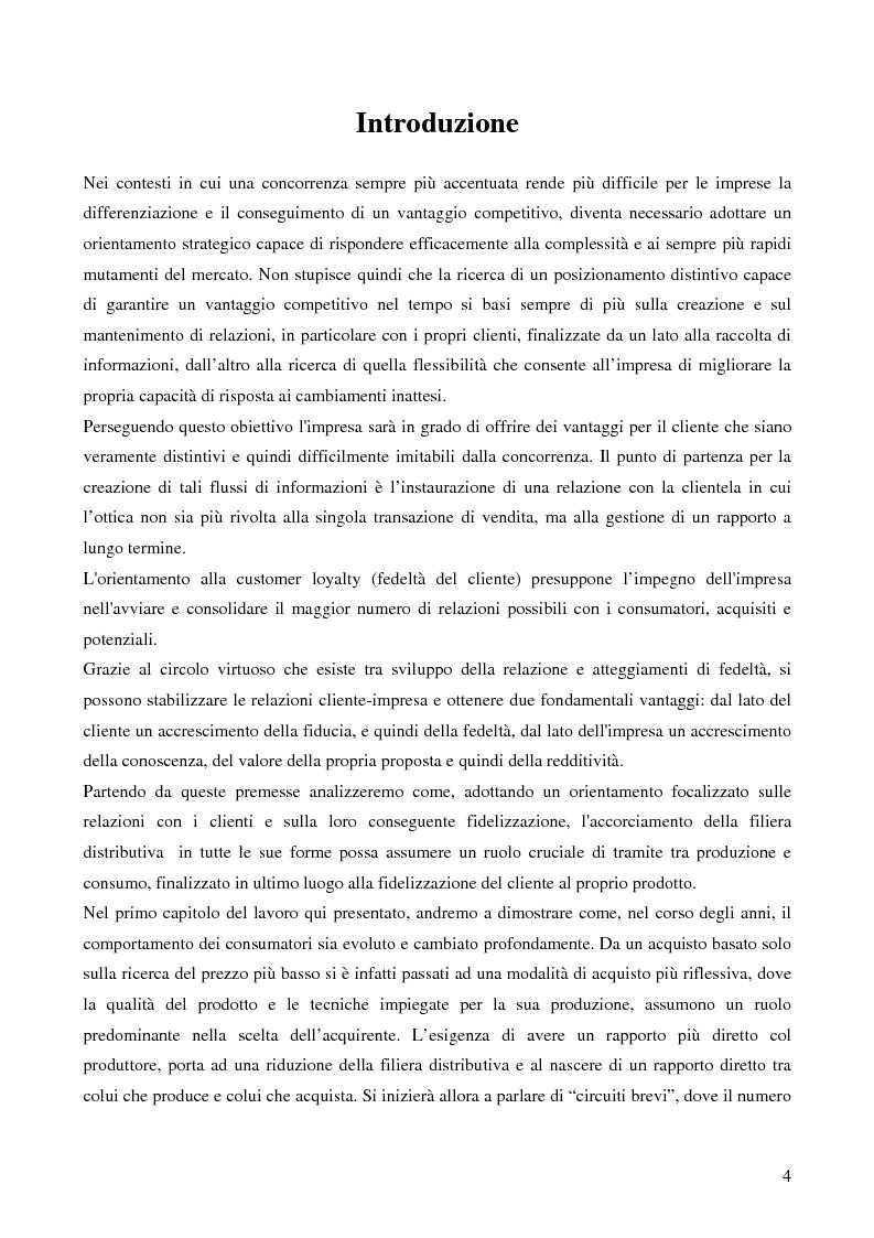 Anteprima della tesi: La filiera corta nel settore alimentare: tipologie e casi applicativi di studio, Pagina 2