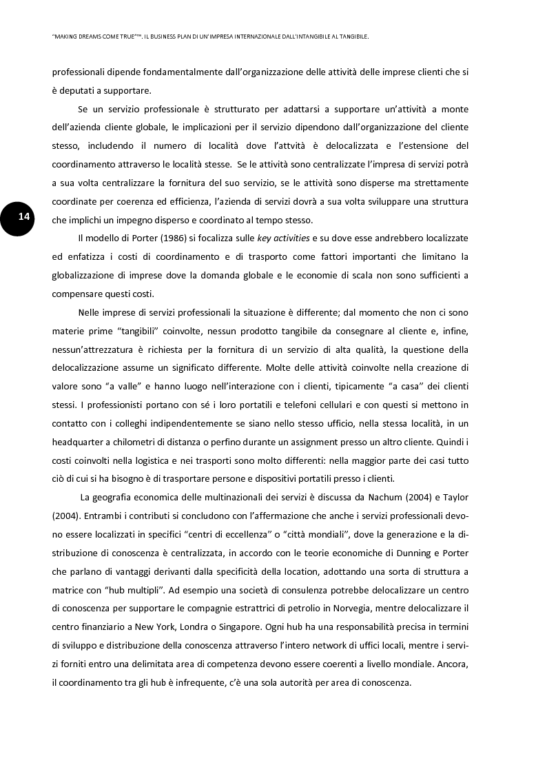 Anteprima della tesi: ''Making dreams come true''. Il business plan di un'impresa internazionale dall'intangibile al tangibile, Pagina 10
