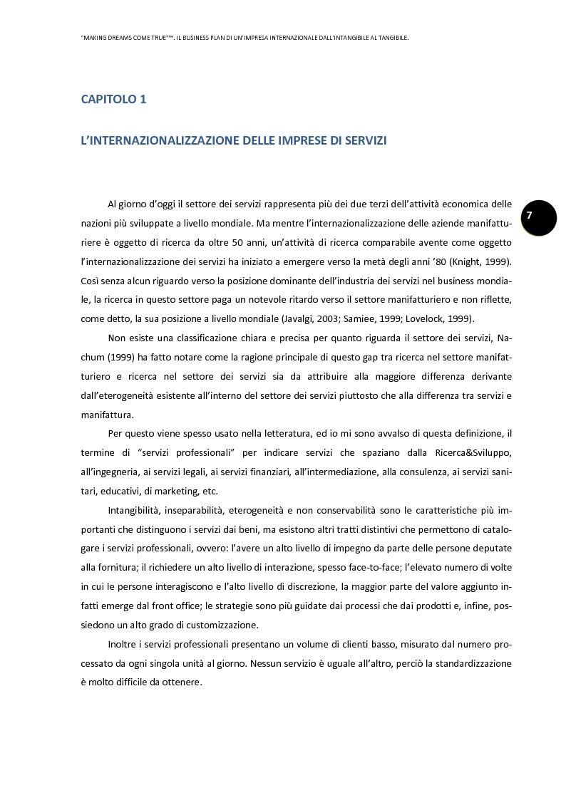 Anteprima della tesi: ''Making dreams come true''. Il business plan di un'impresa internazionale dall'intangibile al tangibile, Pagina 3