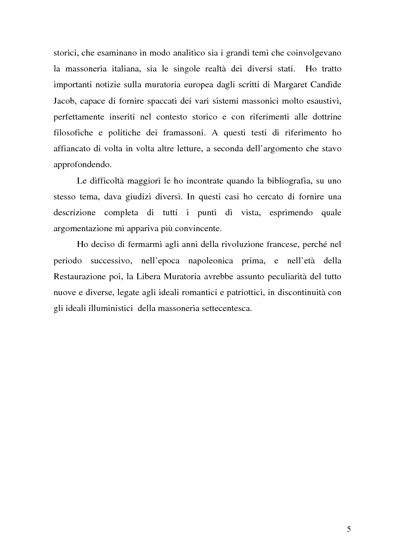 Anteprima della tesi: La massoneria tra Stati e Chiesa nell'Italia dei Lumi, Pagina 2