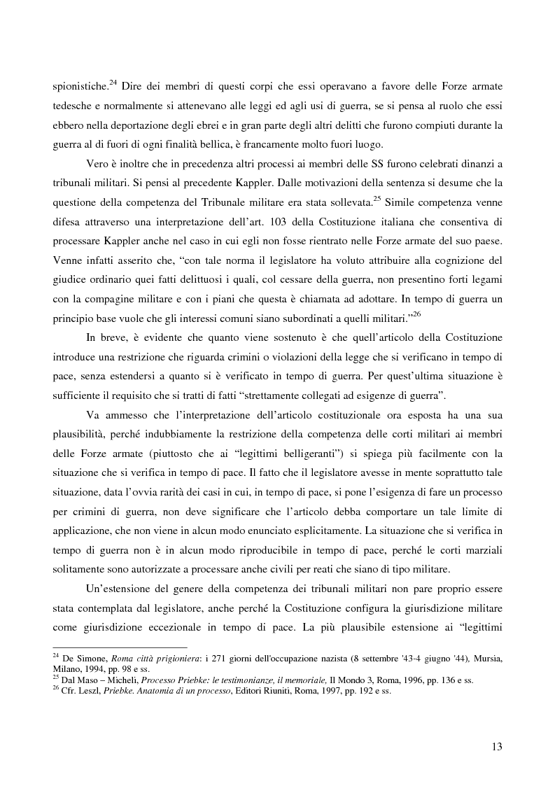 Anteprima della tesi: Crimini internazionali e rilevanza dell'ordine superiore, Pagina 11