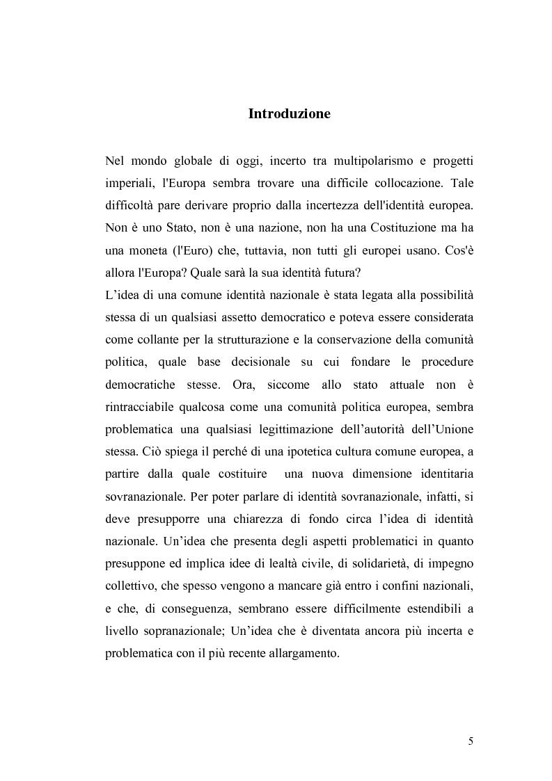 Anteprima della tesi: L'Ue tra allargamento e politiche euromediterranee, Pagina 1