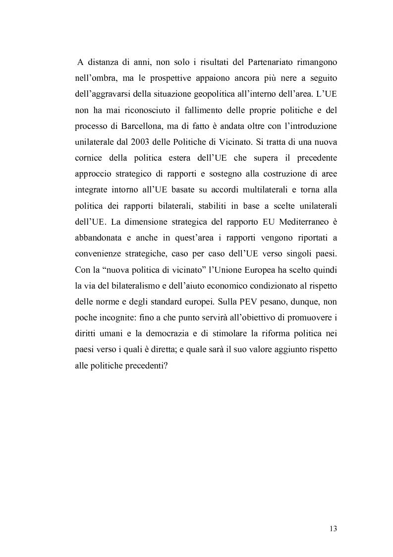 Anteprima della tesi: L'Ue tra allargamento e politiche euromediterranee, Pagina 9