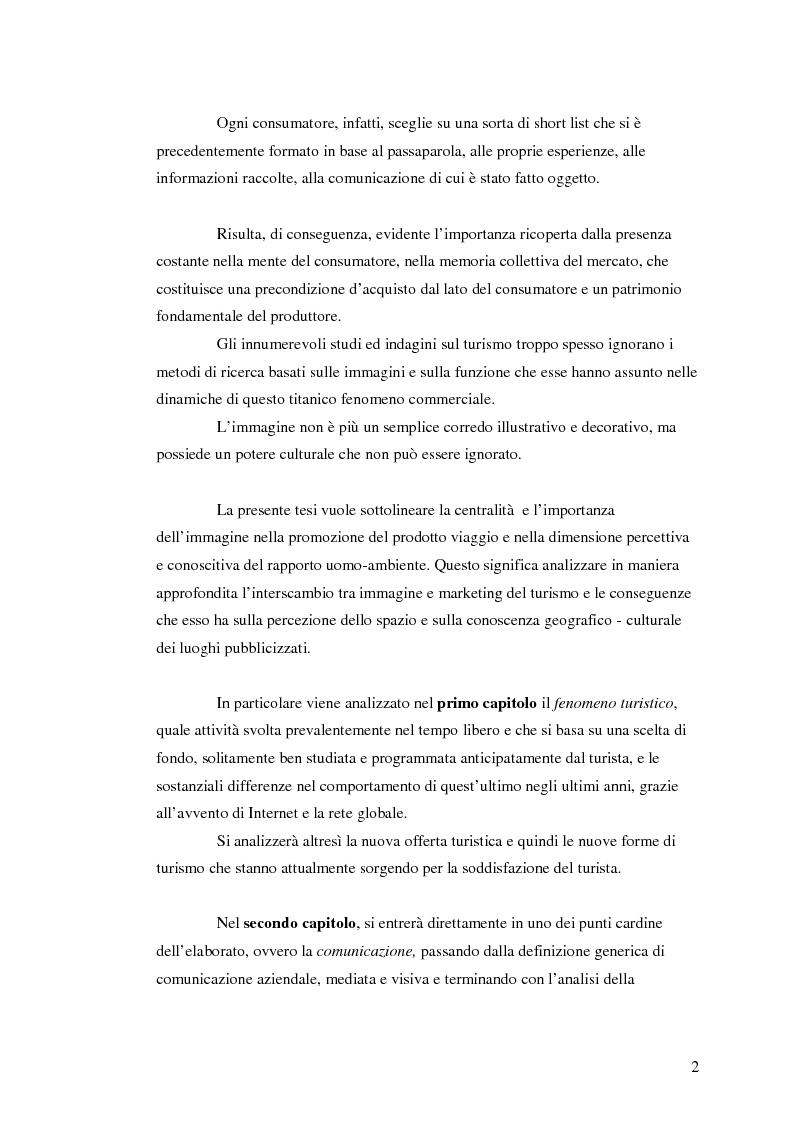 Anteprima della tesi: La comunicazione nel turismo: promozione e pubblicità degli operatori turistici, Pagina 2