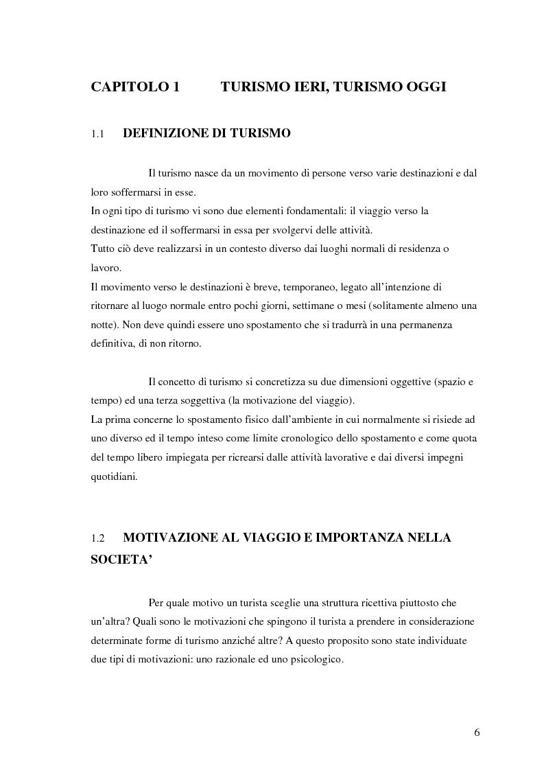 Anteprima della tesi: La comunicazione nel turismo: promozione e pubblicità degli operatori turistici, Pagina 6