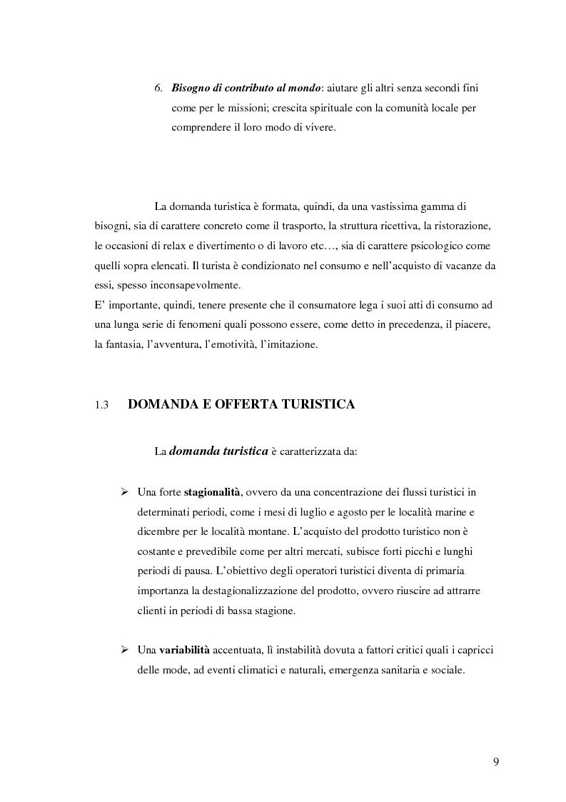 Anteprima della tesi: La comunicazione nel turismo: promozione e pubblicità degli operatori turistici, Pagina 9