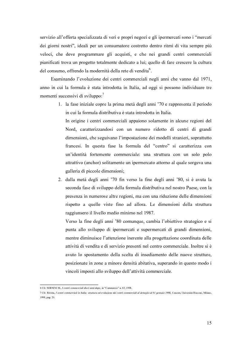 Anteprima della tesi: Le scelte di localizzazione dell'impresa commerciale: il caso del Centro Commerciale Mongolfiera di Molfetta (BA), Pagina 11