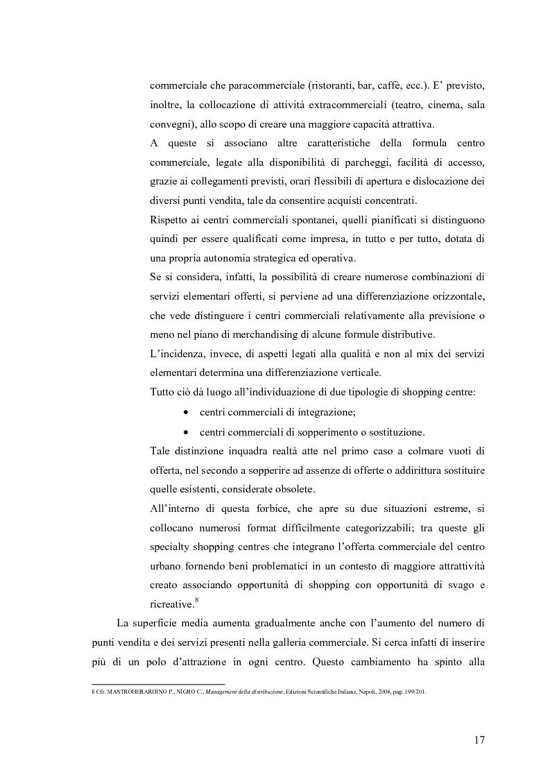 Anteprima della tesi: Le scelte di localizzazione dell'impresa commerciale: il caso del Centro Commerciale Mongolfiera di Molfetta (BA), Pagina 13