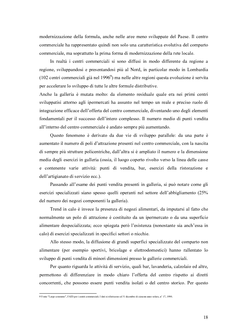 Anteprima della tesi: Le scelte di localizzazione dell'impresa commerciale: il caso del Centro Commerciale Mongolfiera di Molfetta (BA), Pagina 14