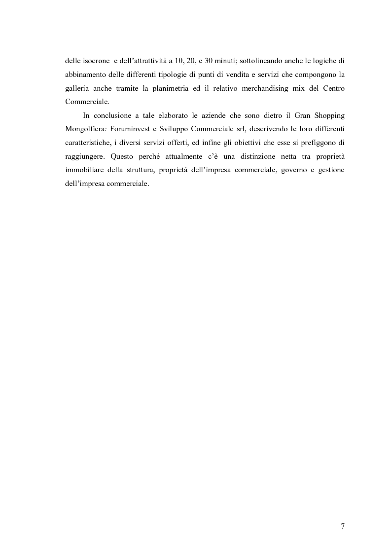 Anteprima della tesi: Le scelte di localizzazione dell'impresa commerciale: il caso del Centro Commerciale Mongolfiera di Molfetta (BA), Pagina 3