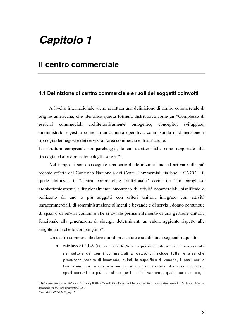 Anteprima della tesi: Le scelte di localizzazione dell'impresa commerciale: il caso del Centro Commerciale Mongolfiera di Molfetta (BA), Pagina 4