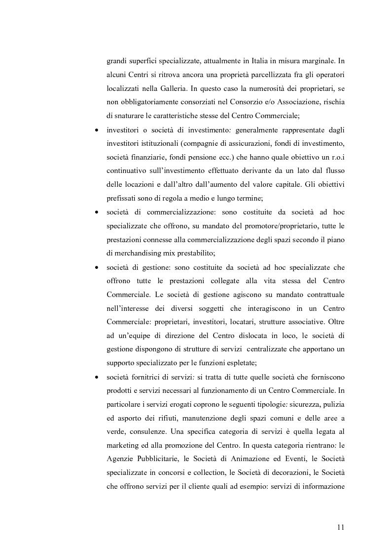 Anteprima della tesi: Le scelte di localizzazione dell'impresa commerciale: il caso del Centro Commerciale Mongolfiera di Molfetta (BA), Pagina 7