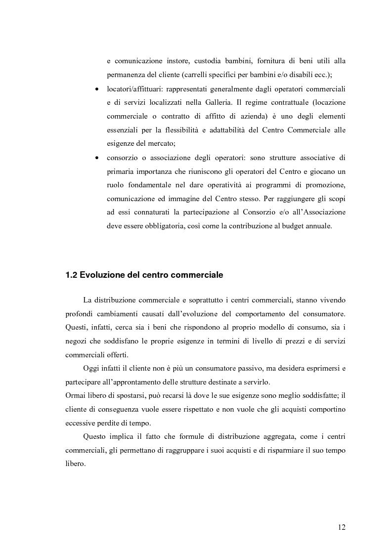Anteprima della tesi: Le scelte di localizzazione dell'impresa commerciale: il caso del Centro Commerciale Mongolfiera di Molfetta (BA), Pagina 8