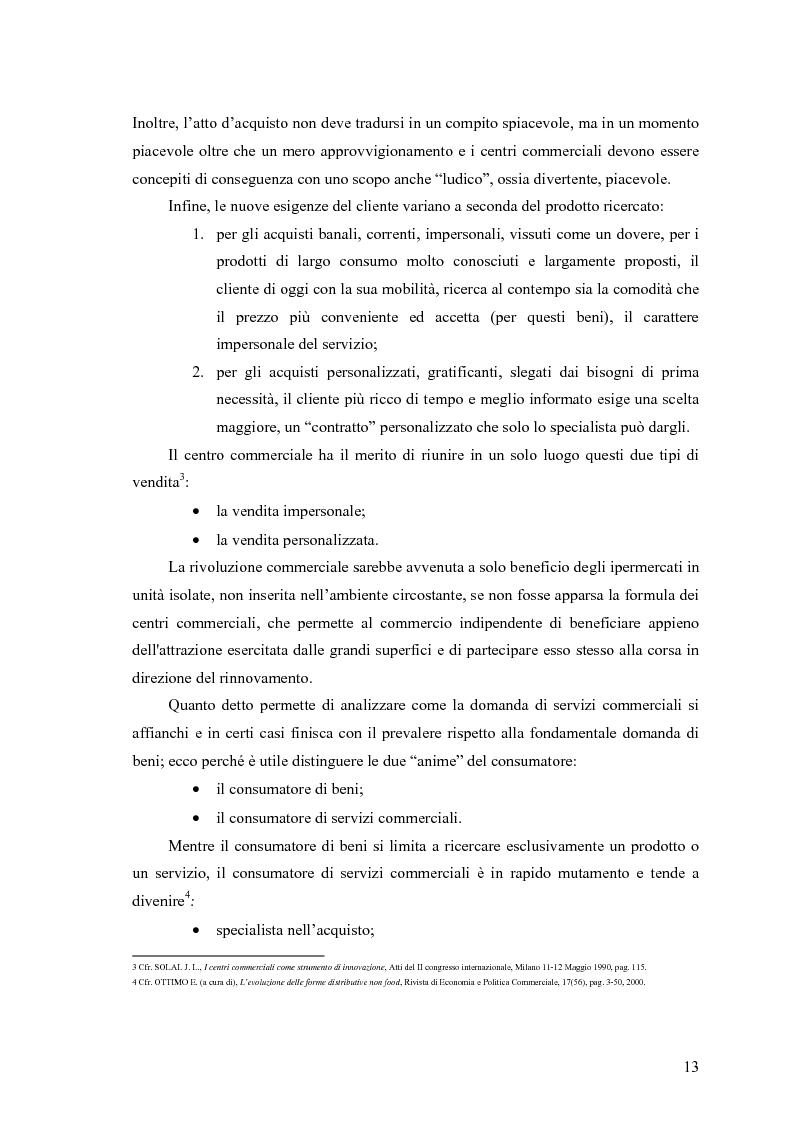 Anteprima della tesi: Le scelte di localizzazione dell'impresa commerciale: il caso del Centro Commerciale Mongolfiera di Molfetta (BA), Pagina 9